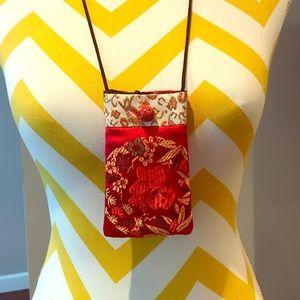Satin mini purse necklace